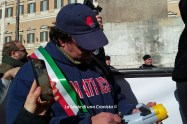 Roma, manifestazione - I volti e le voci dei terremotati