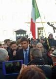 Roma, manifestazione - Alessandro Di Battista e gli abitanti delle zone terremotate