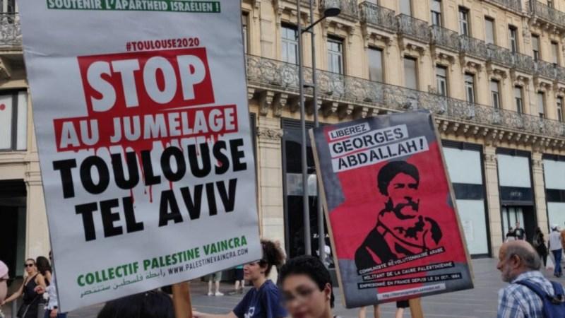Toulouse en France: Manifestation de masse  contre l'annexion et la normalisation