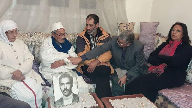 زيارة تجديد العهد والوفاء لعائلة الشهيد عبد اللطيف زروال.