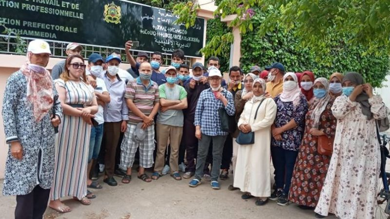 عمال وعاملات معمل للحلويات بالمحمدية يطرحون ملفهم المطلبي