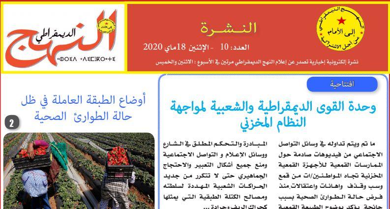العدد العاشر من النشرة الإلكترونية الإخبارية