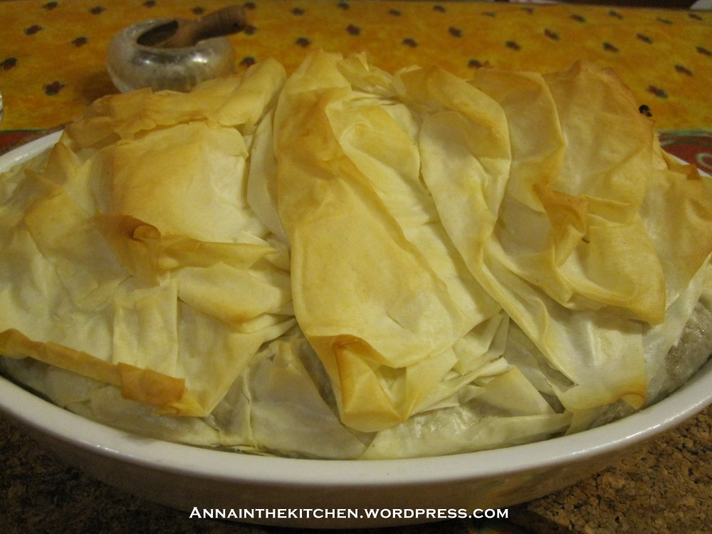 Low Fat Chicken and Mushroom Filo Pie Recipe