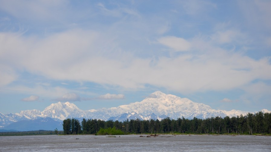 Mt McKinley from Talkeetna. Alaska in summer