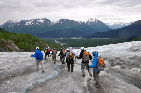 Hiking Exit glacier