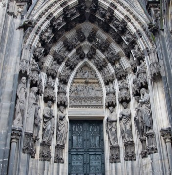 Outside Cologne cathedral