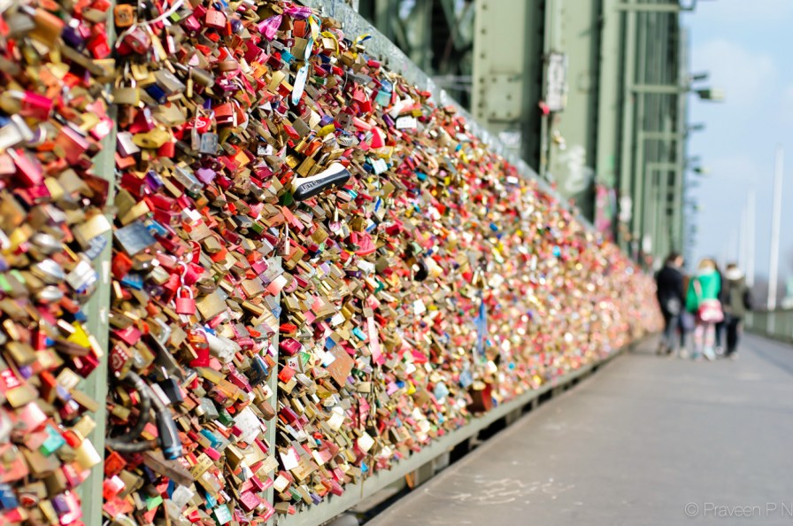 Love-locks on Hohenzollern bridge