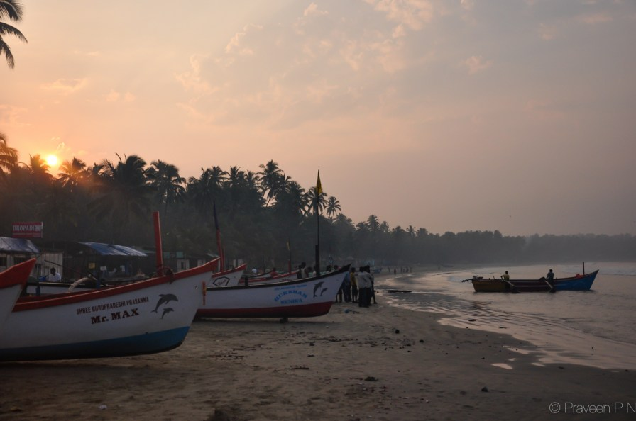 Early morning at Palolem beach