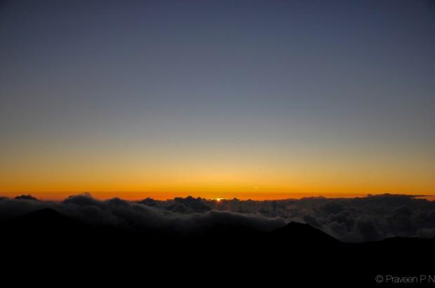 Sunrise at Haleakela
