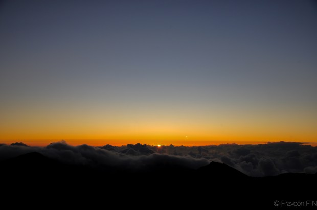 Sunrise at Haleakela
