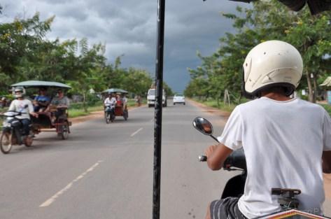 Tuk-tuk ride to Angkor Wat