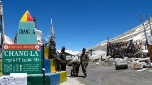 Passing through Chang La Pass(17,590ft)