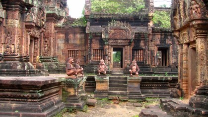 Red colored temple Banteay Srey