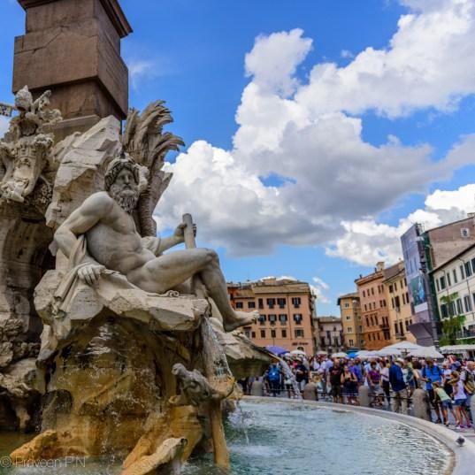 Fontana dei Quattro Fiumi at Piazza Navona