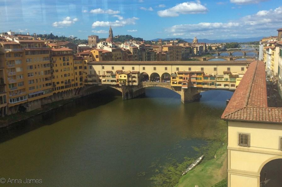Ponte Vecchio from Uffizi gallery