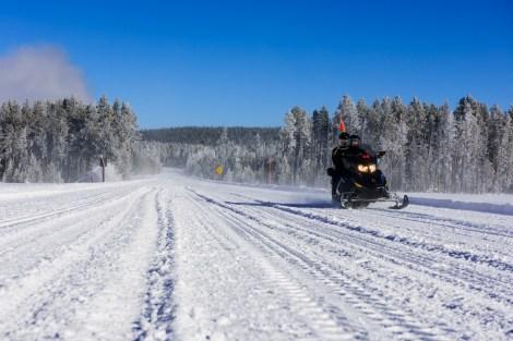 Snowmobiling in Yellowstone