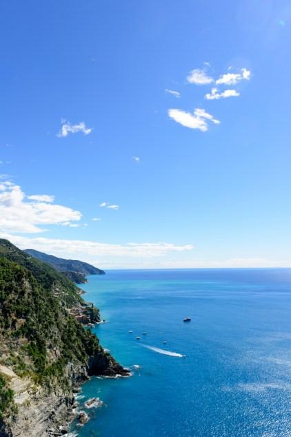 Rugged coastline of Cinque terre