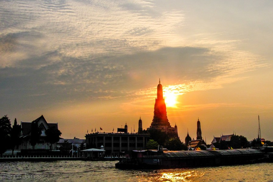 Wat Arun from the boat