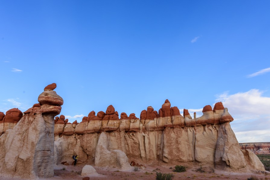 Hoodoo like structures of Blue Canyon