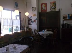 カフェ・スペースのファブリックは、一つ一つが違って、とっても個性的!