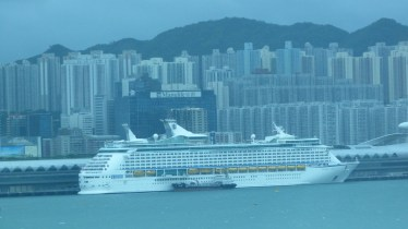 Voyager at the cruise terminal HK