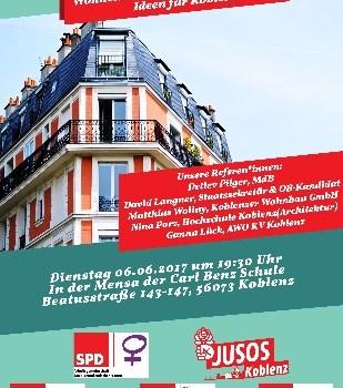 """Gemeinsame Veranstaltung der fünf Arbeitsgemeinschaften der Koblenzer SPD: """"Wohnen in sozialer Verantwortung"""""""