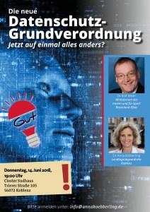 """""""Die neue Datenschutz-Grundverordnung – jetzt auf einmal alles anders?"""" am 14. Juni"""