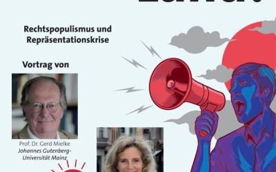 """Veranstaltung im Rahmen der """"Koblenzer Wochen der Demokratie"""":  Repräsentationskrise und Aufstieg der AfD"""
