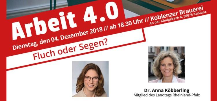 """Einladung: """"Arbeit 4.0 – Fluch oder Segen?"""" mit Staatsministerin Sabine Bätzing-Lichtenthäler"""
