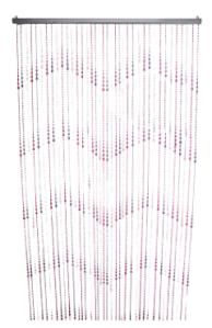 beaded curtain teardrop in pink/purple, Ishka