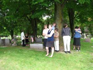 Drosendahls at cemetery