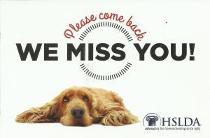 HSLDA Membership Renewal Postcard