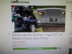 Vision Zero Petition screenshot 001