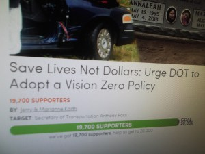 Vision Zero Petition screenshot 004