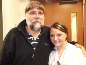 Jerry with Amanda Mary's ER nurse in Greensboro, Georgia