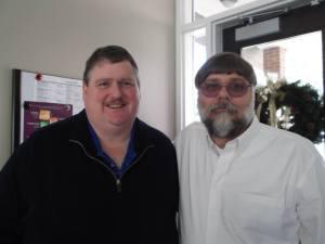 Pastor Schwartz and Jerry Augusta