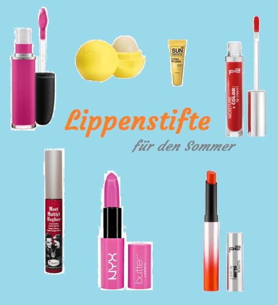 Lippenstifte für den Sommer