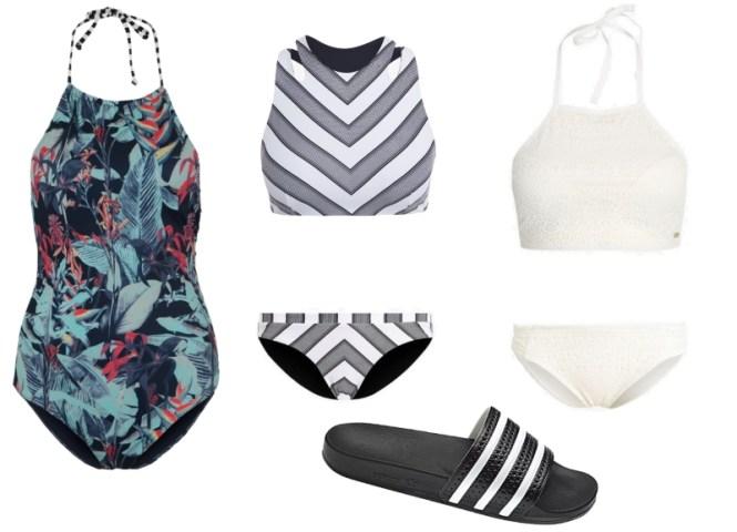 Bademode Bikini Badeanzug Sommer Adilette