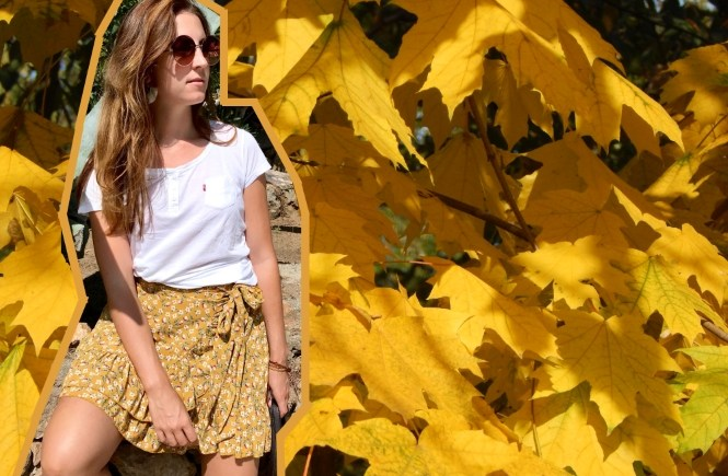 mode outfit style fashion senfgelb yellow gelb rock