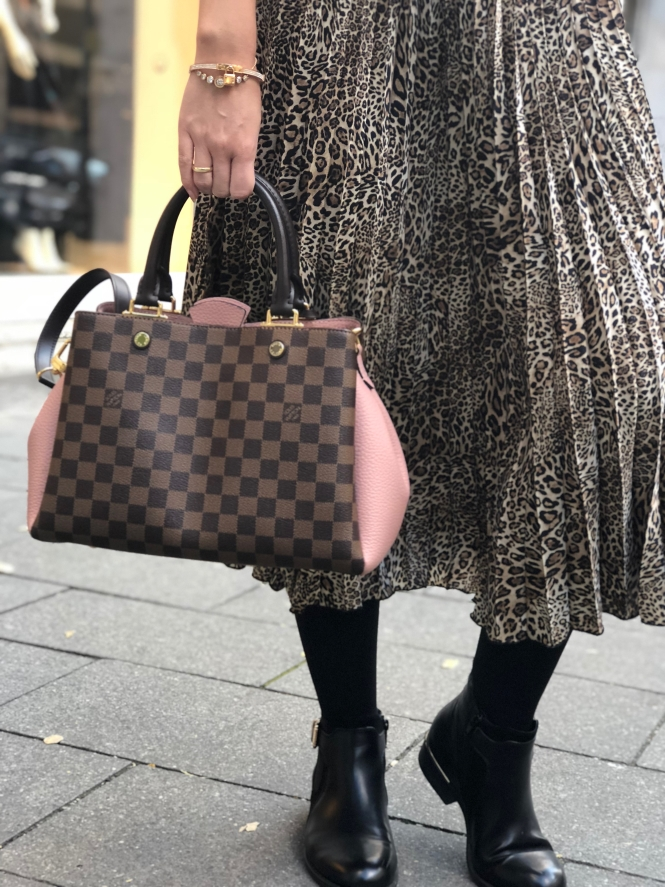 animal print rock leo louis vuitton tasche plisseerock