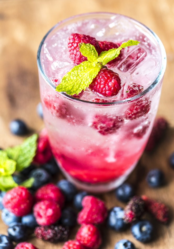 Mixed berry infused water