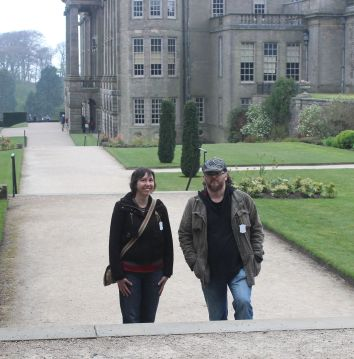 Being Lizzie and Darcy at Permberley (aka Lyme Park)