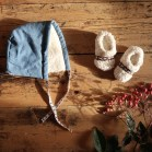 Winter Bonnet and Shearling Organic Cotton Booties Square