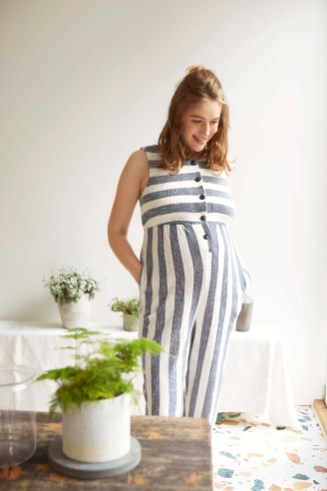 Stripe Martha jumpsuit editorial