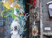 Banksy. Street Art in Duckboard Place (foto: Anna Luciani)