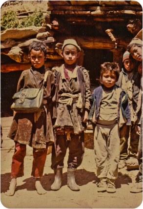 High school students, Humla, 1991.