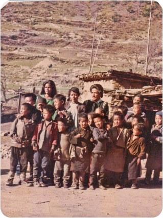 Audience members, Humla, 1991.