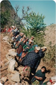 Samana Cultural Family and others in Rolpa Baghmara, sometime between 1996 and 2000.