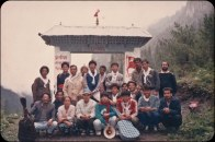 Chitwan Cultural Family artists at Manang Gate, 1994.