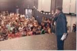Khusiram Pakhrin addressing Nepali diaspora audience in Belgium, 2009.